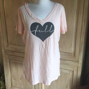 Heart Is Full Baby Pink T-Shirt - Sz XL